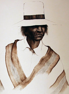 Navajo Fabric AP 1974 Limited Edition Print - Frank Howell