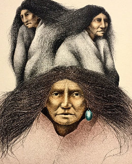 Oglala Women TP 1993 Limited Edition Print - Frank Howell