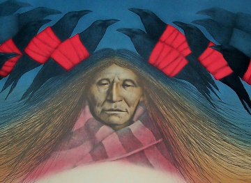 Crow Messenger AP 1984 Limited Edition Print by Frank Howell