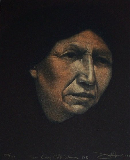 Two Grey Hills Woman-Hand Colored 1990 Limited Edition Print by Frank Howell