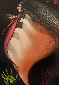 Flower Dancer II  (Hand Colored) 1987 Limited Edition Print - Frank Howell