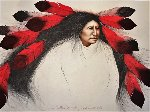 Red Feather Dancing AP 1986 Limited Edition Print - Frank Howell