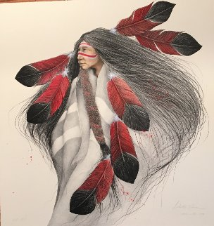 Lakota Dancer AP 1991 Limited Edition Print - Frank Howell