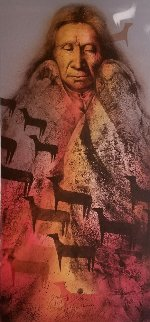 Ponies of the Fire Lakota Vision AP 1981 Limited Edition Print by Frank Howell