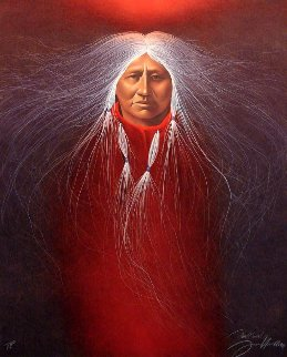Sage Fire 1991 Limited Edition Print by Frank Howell