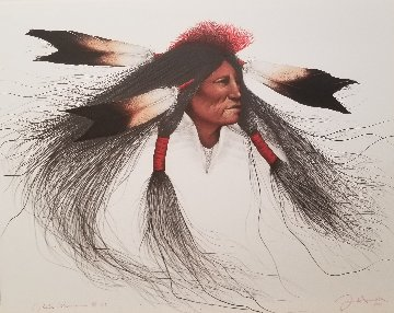 Oglala Warrior 1991 AP Limited Edition Print - Frank Howell