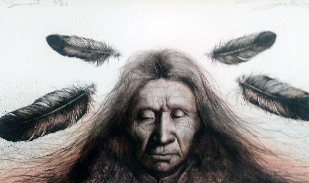 Lakota Sunset 1983 Limited Edition Print by Frank Howell