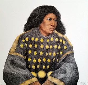 Lakota Woman (Hand Colored) AP 1992 Limited Edition Print by Frank Howell