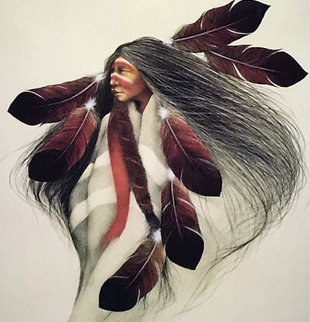 Lakota Dancer 1991 Limited Edition Print by Frank Howell