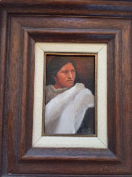 Navajo Maiden 1981 13x11 Original Painting by Frank Howell - 1