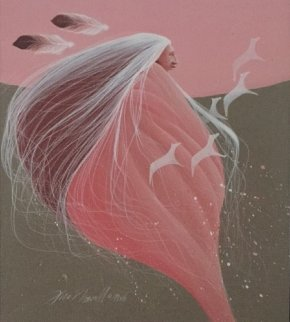 Coral Dream 1988 16x14 Original Painting by Frank Howell