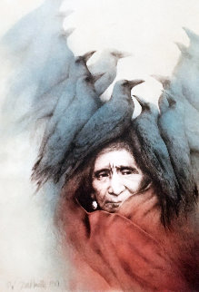 Crow Dreamer Lakota Vision 1981 Limited Edition Print - Frank Howell