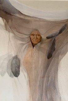 Prairie Robe 1979  42x32 Original Painting by Frank Howell