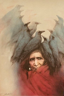 Crow Dreamer 1981 Limited Edition Print by Frank Howell