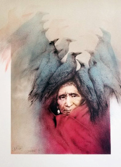 Crow Dreamer 1981 Proof Limited Edition Print by Frank Howell