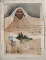 Lakota Summer, New Morning Watercolor  1982 27x22 (Early) Watercolor by Frank Howell - 1