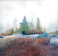 First Snow 1978 17x17 Original Painting by Frank Howell - 0