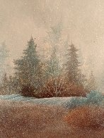 First Snow 1978 17x17 Original Painting by Frank Howell - 3