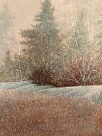 First Snow 1978 17x17 Original Painting by Frank Howell - 5