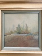 First Snow 1978 17x17 Original Painting by Frank Howell - 1
