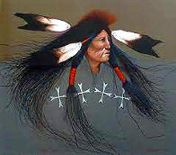 Oglala Warrior 1991 Limited Edition Print by Frank Howell - 0