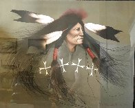 Oglala Warrior 1991 Limited Edition Print by Frank Howell - 1