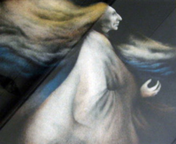 Wind Woman 1981 Limited Edition Print by Frank Howell
