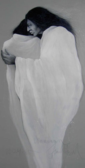 Communion 1985 59x34 Original Painting by Frank Howell