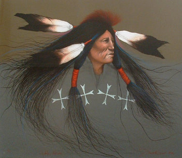 Oglala Warrior 1991 Limited Edition Print - Frank Howell
