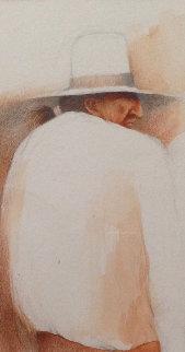 Untiltled Navajo Study Watercolor 1975 16x13 Watercolor - Frank Howell