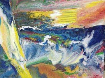 Peace 2014 27x35 Original Painting - Hong Tao Li