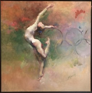 Olympic Dreams 2008 Embellished  Limited Edition Print by Hua Chen