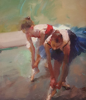 Two Ballet Swans 2012 Embellishment Limited Edition Print - Hua Chen