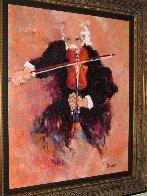 Le Violoniste 2000 38x45 Super Huge Original Painting by Urbain Huchet - 2