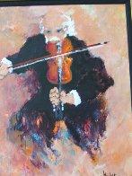 Le Violoniste 2000 38x45 Super Huge Original Painting by Urbain Huchet - 1