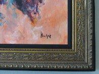Le Violoniste 2000 38x45 Super Huge Original Painting by Urbain Huchet - 4