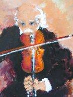 Le Violoniste 2000 38x45 Super Huge Original Painting by Urbain Huchet - 5