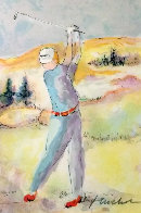 Untitled Golf Limited Edition Print by Urbain Huchet - 0