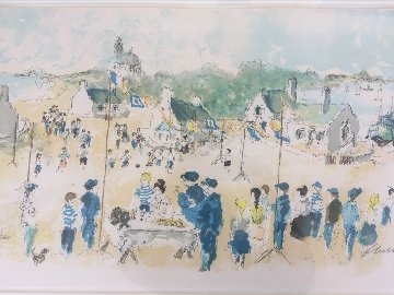 Fete a Chausey 1989 Limited Edition Print - Urbain Huchet