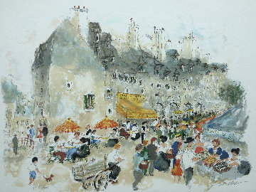Cafe Des Amis Limited Edition Print by Urbain Huchet