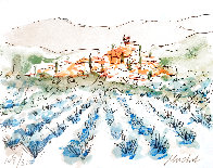 Lavender Field in Florence Limited Edition Print by Urbain Huchet - 0