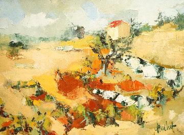 Mas En Provence 1990 21x28 Original Painting - Urbain Huchet