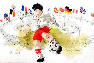 Le Footballer 2006 Limited Edition Print - Urbain Huchet