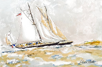 Racing Yachts on Saint Tropez Limited Edition Print - Urbain Huchet