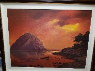 Scorching Sunset 2005 38x48 Super Huge Original Painting by Huertas Aguiar - 1
