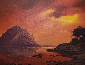 Scorching Sunset 2005 38x48 Huge Original Painting - Huertas Aguiar