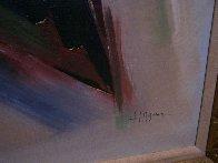 Moving Shapes 1960 37x31 Original Painting by Huertas Aguiar - 7