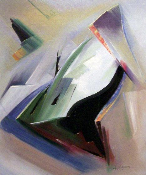 Moving Shapes 1960 37x31 Original Painting by Huertas Aguiar