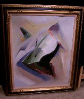 Moving Shapes 1960 37x31 Original Painting by Huertas Aguiar - 1