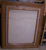 Moving Shapes 1960 37x31 Original Painting by Huertas Aguiar - 3
